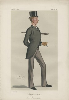 Algernon Keith-Falconer, 9th Earl of Kintore ('Men of the Day. No. 221.'), by Sir Leslie Ward - NPG D43951