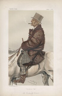 Frederick Barne ('Men of the Day. No. 261.'), by Sir Leslie Ward, published in Vanity Fair 5 August 1882 - NPG D44079 - © National Portrait Gallery, London