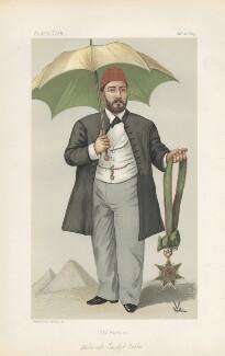 (Muhammed) Tewfik Pasha ('Men of the Day. No. 273.'), by 'FV' - NPG D44104