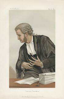 Richard Everard Webster, Viscount Alverstone ('Men of the Day. No. 286.'), by (Pierre) François Verheyden - NPG D44122