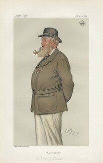 Thomas William Coke, 2nd Earl of Leicester of Holkham ('Statesmen. No. 429.'), by Sir Leslie Ward - NPG D44132