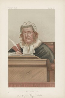 Sir James Fitzjames Stephen, 1st Bt ('Judges. No. 14.'), by Sir Leslie Ward - NPG D44216