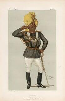 Sir Pertab Singhji, Maharaja of Idar and Regent of Jodhpur ('Men of the Day. No. 385.'), by Sir Leslie Ward - NPG D44347