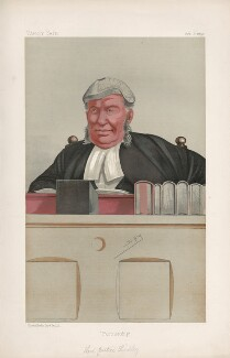 Nathaniel Lindley, Baron Lindley ('Judges. No. 27.'), by Sir Leslie Ward - NPG D44476