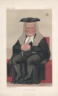 Hardinge Stanley Giffard, 1st Earl of Halsbury ('Statesmen. No. 574.'), by Sir Leslie Ward - NPG D44515