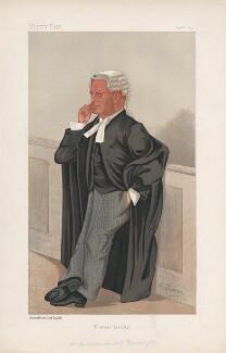 (Cornelius) Marshall Warmington ('Statesmen. No. 576.'), by Harold Wright ('Stuff'), printed by  Vincent Brooks, Day & Son - NPG D44528