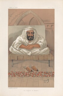Hassan I of Morocco ('Sovereigns. No. 18.'), by 'Pry', printed by  Vincent Brooks, Day & Son - NPG D44549
