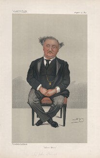 Sir John Stainer ('Men of the Day. No. 515.'), by Sir Leslie Ward - NPG D44557