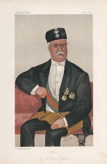 Abu Bakar, Sultan of Johore ('Sovereigns. No. 19.'), by Robert Wallace Glen Lee Braddell ('KYO') - NPG D44564