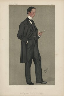 George Nathaniel Curzon, Marquess Curzon of Kedleston ('Statesmen. No. 594.'), by Sir Leslie Ward - NPG D44599
