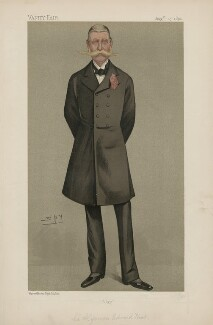 Sir Algernon Edward West ('Men of the Day. No. 545.'), by Sir Leslie Ward - NPG D44607