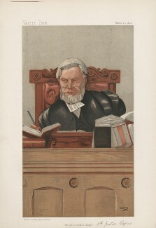 Henry Charles Lopes, 1st Baron Ludlow ('Judges. No. 40.'), by Sir John Paget Mellor, 1st Bt - NPG D44639