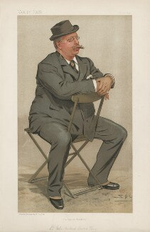 Sir John Richard Somers Vine ('Men of the Day. No. 570.'), by Sir Leslie Ward - NPG D44657