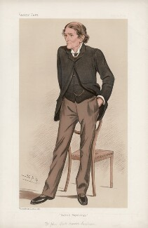 Sir John Scott Burdon-Sanderson, Bt ('Men of the Day. No. 587.'), by Sir Leslie Ward - NPG D44699