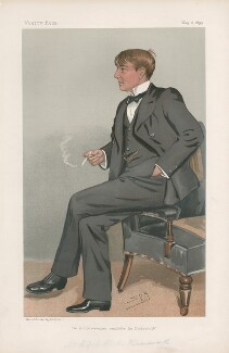 Alfred Harmsworth, 1st Viscount Northcliffe ('Men of the Day. No. 620.'), by Sir Leslie Ward - NPG D44751
