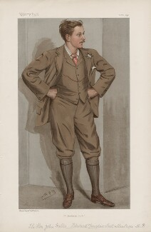 John Walter Edward Douglas-Scott-Montagu, 2nd Baron Montagu of Beaulieu ('Statesmen. No. 678.'), by Sir Leslie Ward - NPG D44824