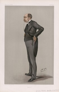 John Fletcher Moulton, 1st Baron Moulton ('Men of the Day. No. 793.'), by Sir Leslie Ward - NPG D45033