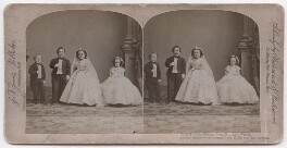 'Tom Thumb, Commodore Nut and Wives', by Mathew B. Brady, published by  J.F. Jarvis - NPG x193214
