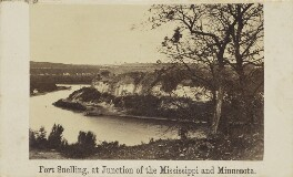 'Fort Snelling, at Junction of the Mississippi and Minnesota', probably by Joel Emmons Whitney - NPG Ax68171