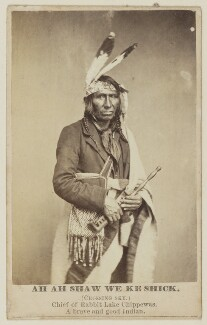 Ah Ah Shaw We Ke Shick ('Crossing Sky'), by Unknown photographer - NPG Ax68188