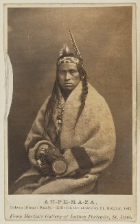 Ah-pe-ma-za, by Unknown photographer - NPG Ax68191