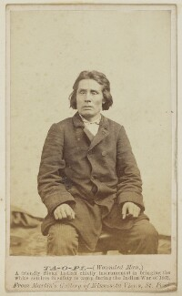 Ta-o-pi ('Wounded Man'), by Unknown photographer - NPG Ax68192