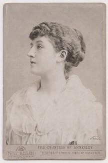 Priscilla Cecilia (née Moore), Countess Annesley, by Alexander Bassano - NPG x193218