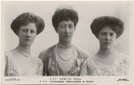 Princess Alexandra, Princess Arthur of Connaught; Princess Louise, Duchess of Fife; Princess Maud, Countess of Southesk, by Lallie Charles, published by  J. Beagles & Co - NPG x193227