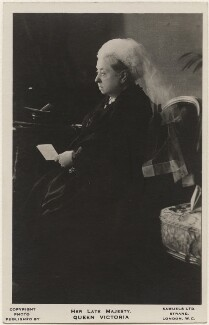Queen Victoria, by Alexander Bassano, published by  J.J. Samuels Ltd - NPG x193021