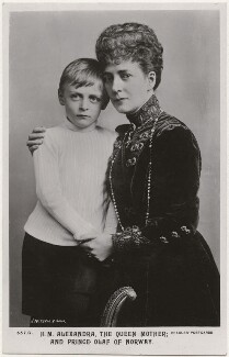 Olav V, King of Norway; Queen Alexandra, by James Russell & Sons, published by  J. Beagles & Co - NPG x193023