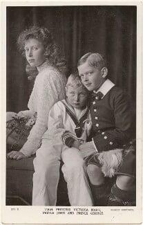 Princess Mary, Countess of Harewood; Prince John; Prince George, Duke of Kent, by Lafayette, published by  J. Beagles & Co - NPG x193236