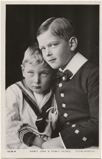 Prince John; Prince George, Duke of Kent, by Lafayette, published by  Rotary Photographic Co Ltd - NPG x193237