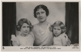 'Her Royal Highness the Duchess of York and T.R.H. The Princesses Elizabeth and Margaret Rose' (Queen Elizabeth II; Queen Elizabeth, the Queen Mother; Princess Margaret), by Marcus Adams, published by  Raphael Tuck & Sons - NPG x193270
