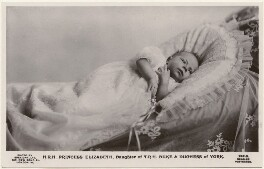 'H.R.H. Princess Elizabeth, Daughter of T.R.H. Duke & Duchess of York' (Queen Elizabeth II), by Speaight Ltd, published by  J. Beagles & Co - NPG x193275