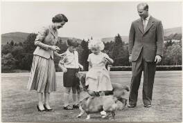 'The Royal Family at Balmoral' (Queen Elizabeth II; Prince Charles; Princess Anne; Prince Philip, Duke of Edinburgh), published by James Valentine & Sons Ltd - NPG x193029