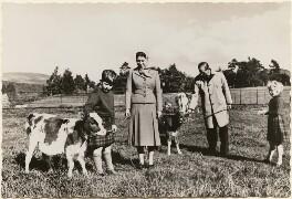 'The Royal Family at Balmoral' (Prince Charles; Queen Elizabeth II; Prince Philip, Duke of Edinburgh; Princess Anne), published by James Valentine & Sons Ltd - NPG x193032