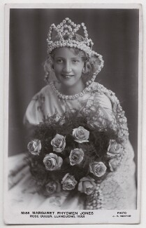 Margaret Rhydwen Jones as Rose Queen, Llandudno, by J.H. Baxter - NPG x198124