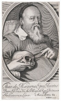 Sir Theodore Turquet de Mayerne, by William Elder, after  Unknown artist - NPG D45879