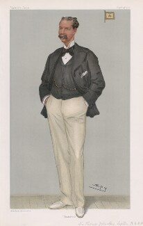 Sir Thomas Johnstone Lipton, 1st Bt ('Men of the Day. No. 824.'), by Sir Leslie Ward - NPG D45084