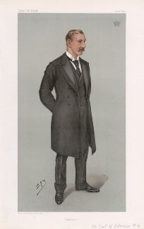 William Waldegrave Palmer, 2nd Earl of Selborne ('Statesmen. No. 741.'), by Sir Leslie Ward - NPG D45086