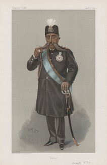 Mozaffar od-Din, Shah of Persia ('Sovereigns. No. 27.'), by Sir Leslie Ward - NPG D45155