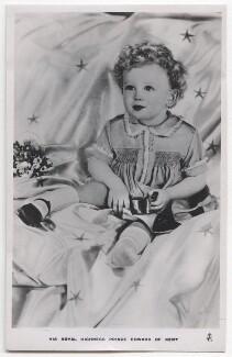 Prince Edward George Nicholas Paul Patrick, Duke of Kent, by Madame Yevonde, published by  Raphael Tuck & Sons - NPG x198139