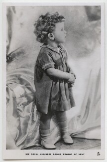 Prince Edward George Nicholas Paul Patrick, Duke of Kent, by Madame Yevonde, published by  Raphael Tuck & Sons - NPG x198140