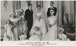 'The Royal Wedding 6 May 1960', published by Raphael Tuck & Sons - NPG x193294