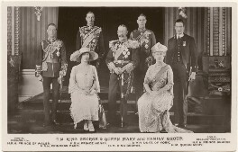 'T.M. King George & Queen Mary and Family Group', by H.R. Wicks, for  Bassano Ltd, published by  J. Beagles & Co - NPG x193295