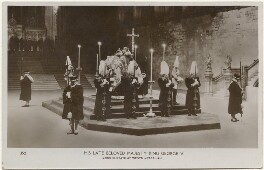 'His Late Beloved Majesty King George V lying in state at Westminster Hall', by Unknown photographer - NPG x193296