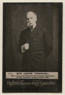 Sir John Tenniel, by Elliott & Fry, published by  Ogden's - NPG x193110