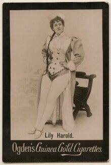 Lily Harold (née Lillie Nesta Morris Watkins), possibly by The Hana Studios Ltd, published by  Ogden's - NPG x193115
