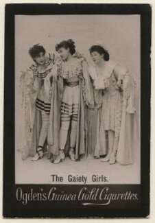 'The Gaiety Girls' (Constance Collier; Lily Harold (née Lillie Nesta Morris Watkins) and an unknown actress), published by Ogden's - NPG x193116