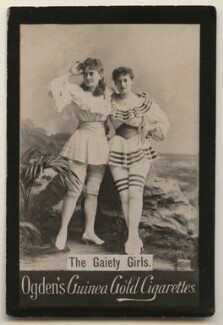 'The Gaiety Girls' (Grace Palotta as Ethel Hawthorne; Florence Lloyd as Cissy Verner in 'A Gaiety Girl'), by Benjamin Joseph Falk, published by  Ogden's - NPG x193117